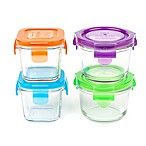 Wean Green Cubes and Bowls 4-Piece Glass Storage Set