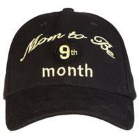 "countdowncaps™ ""Mom to Be"" Countdown Baseball Cap in Black/Gold"