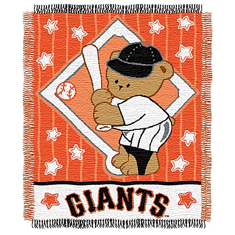 MLB San Francisco Giants Woven Jacquard Baby Blanket/Throw