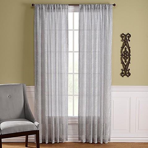 Lexington Harbor Rod Pocket Window Curtain Panel Bed