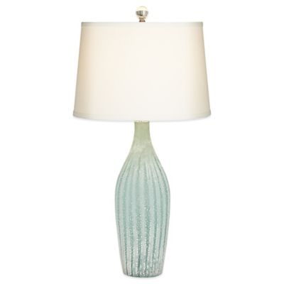 Pacific Coast® Lighting Melanza Table Lamp In Light Green With Linen Shade