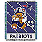NFL New England Patriots Woven Jacquard Baby Blanket/Throw