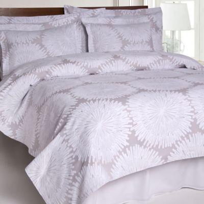 Charming Belle Epoque™ Burst Matelasse Twin Coverlet In Grey/White