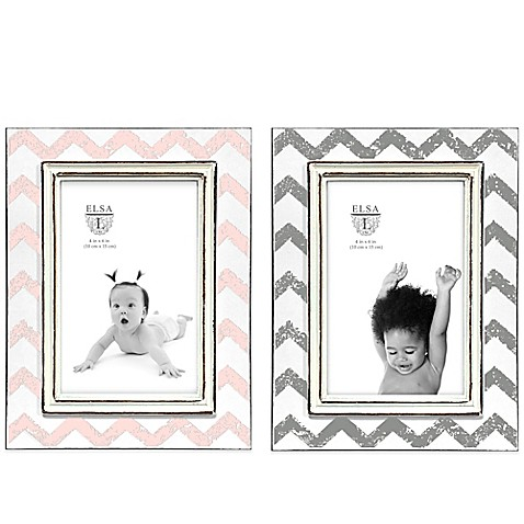 4-Inch x 6-Inch Pink Picture Frame