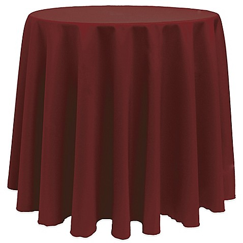 Buy basic 108 inch round tablecloth in brick from bed bath for 108 inch round table cloth