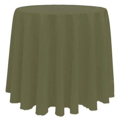 Merveilleux Basic 90 Inch Round Tablecloth In Olive