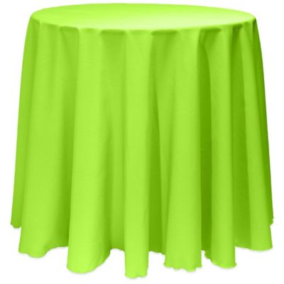 225 & Basic 90-Inch Round Tablecloth in Neon Green