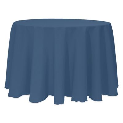 Basic 132 Inch Round Tablecloth In Wedgewood
