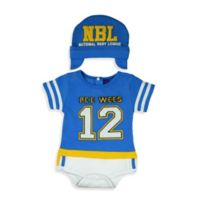 Sozo® Size 0-3M 2-Piece Football Bodysuit and Cap Set in Blue