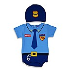 Sozo® Size 0-3M 2-Piece Lil Police Bodysuit and Cap Set in Blue