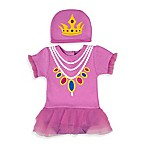 Sozo® Size 3-6M 2-Piece Princess Bodysuit and Cap Set in Purple