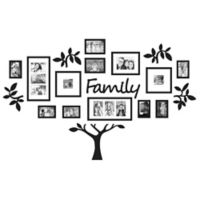 "WallVerbs™ 19-Piece ""Family"" Tree Set in Black"