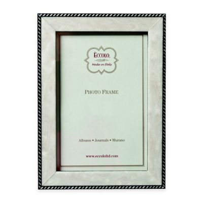 eccolo modern anniversary 8 inch x 10 inch marquetry picture frame