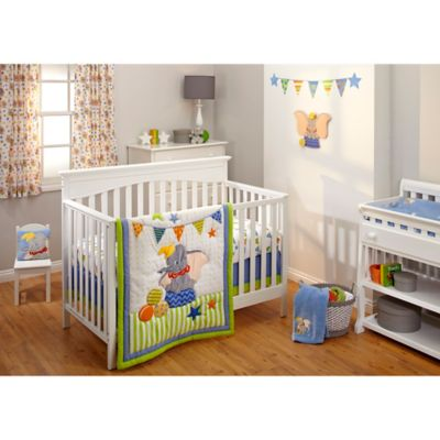 DisneyR Dumbo Crib Bedding Collection 3 Piece Set