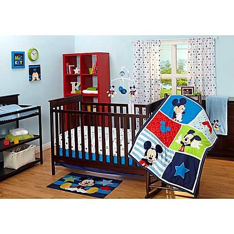 Disney 174 Mickey Mouse Crib Bedding Collection Buybuy Baby
