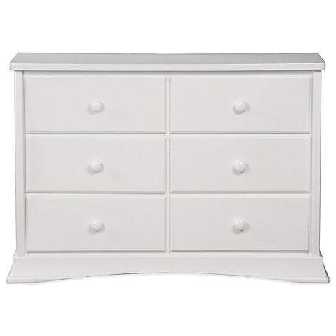 White 6 Drawer Dresser