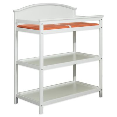 Imagio Baby By Westwood Designs Harper Pine 3 Shelf Changing Table In White