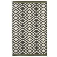 Kaleen Nomad Zig-Zag 5-Foot x 8-Foot Rug in Grey