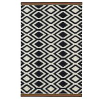 Kaleen Nomad Zig-Zag 5-Foot x 8-Foot Rug in Black