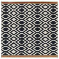 Kaleen Nomad Zig-Zag 8-Foot x 8-Foot Rug in Black