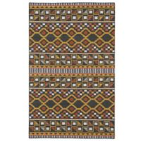 Kaleen Nomad Geo 2-Foot x 3-Foot Rug in Charcoal