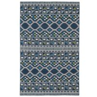 Kaleen Nomad Geo 3-Foot 6-Inch x 5-Foot 6-Inch Rug in Blue