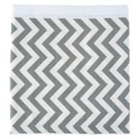 Glenna Jean Swizzle Queen Bed Skirt in Grey/White