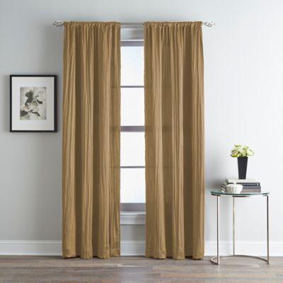 Fortuna Room Darkening Rod Pocket 63 Inch Window Curtain Panel In Taupe