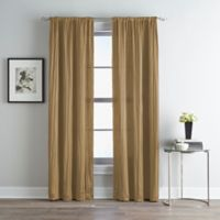 Fortuna Room Darkening Rod Pocket 95-Inch Window Curtain Panel in Taupe