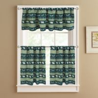Bear Trail 36-Inch Lined Window Curtain Tier Pair in Green