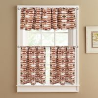 Sunset 36-Inch Window Curtain Tier Pair in Spice