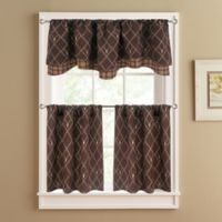 Oh Deer 36-Inch Window Curtain Tier Pair in Brown
