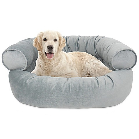 Orthopedic microvelvet comfy couch large pet bed bed bath beyond Comfy couch dog bed