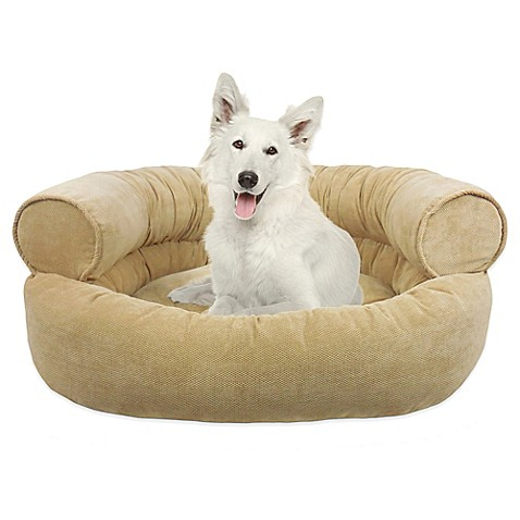 Buy Orthopedic Microvelvet Comfy Couch Large Pet Bed In Sand From Bed Bath Beyond