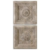 Uttermost Auronzo Aged Squares in Ivory (Set of 2)