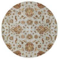 Kaleen Mystic-Europa 9-Foot 9-Inch Round Rug in Pewter