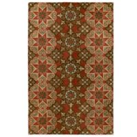 Kaleen Mystic-Papal 3-Foot 6-Inch x 5-Foot 3-Inch Rug in Salsa