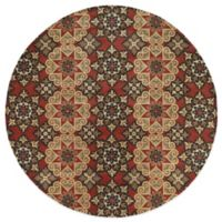 Kaleen Mystic-Papal 7-Foot 9-Inch Round Rug in Salsa