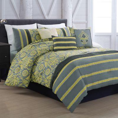 gunner 5piece twin reversible comforter set - Twin Bed Comforters