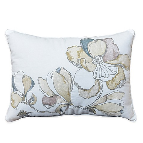Shell Rummel Magnolia Oblong Throw Pillow in White - Bed Bath & Beyond