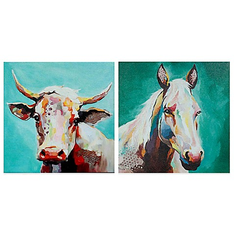 Whimsical Animals Canvas Wall Art - Bed Bath & Beyond