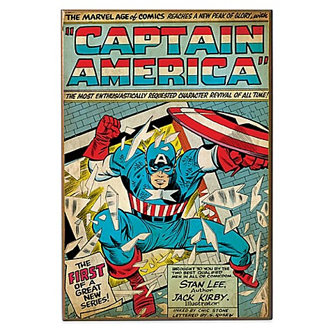 Captain America Quot The First Quot Marvel Comic Book Cover Wall