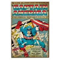 "Captain America ""The First""Marvel Comic Book Cover Wall Décor Plaque"
