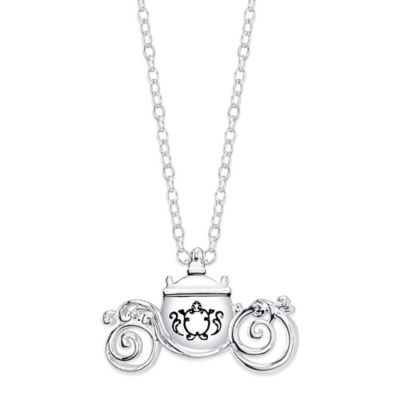 Buy disney necklaces pendants from bed bath beyond disney sterling silver 18 inch chain cinderellas carriage pendant necklace aloadofball Images