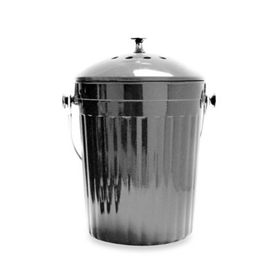 natural home 1gallon moboo compost bin in charcoal