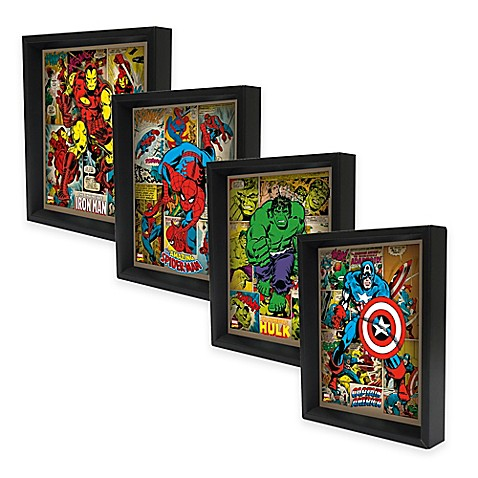 Marvel Heroes 3D Lenticular Wall Art Collection