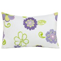 Glenna Jean Lulu Small Pillow Sham in White/Lavender Multi