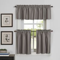 Newport Kitchen Window Valance in Grey