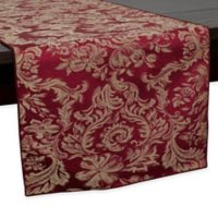 Miranda Damask 72-Inch Table Runner in Bordeaux