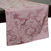Miranda Damask 108-Inch Table Runner in English Rose